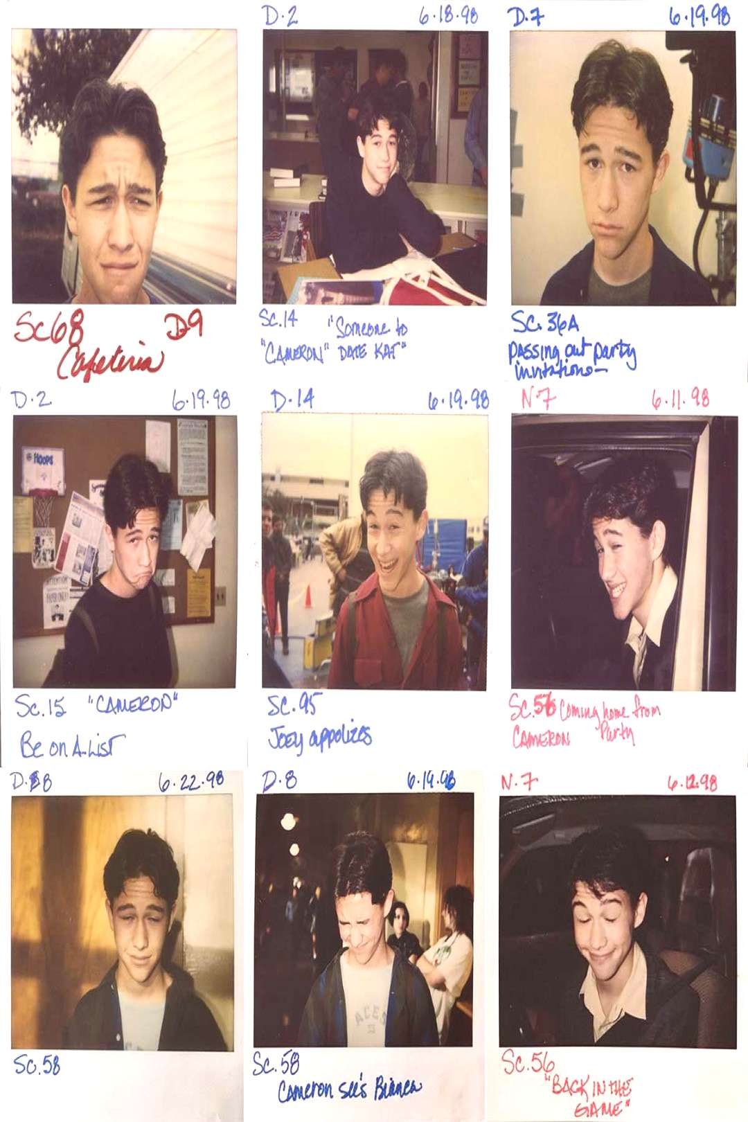 ? on Twitter quotpolaroids of joseph gordon-levitt on the set of 10 things i hate about you… quot