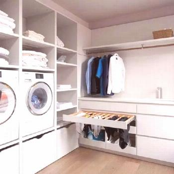 Home Discover Beautiful & spacious laundry room Joinery with full height Oak...#beautiful