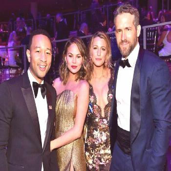 John Legend, Chrissy Teigen, Blake Lively & Ryan Reynolds from The Big Picture: Today's Hot Photos#