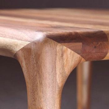 Loving this beautiful and complex walnut table joinery