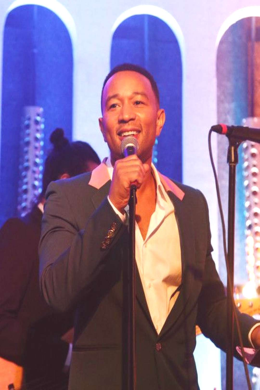 John Legend performs onstage during Shermans Showcase Premiere Party on July 30, 2019 in Los Ang